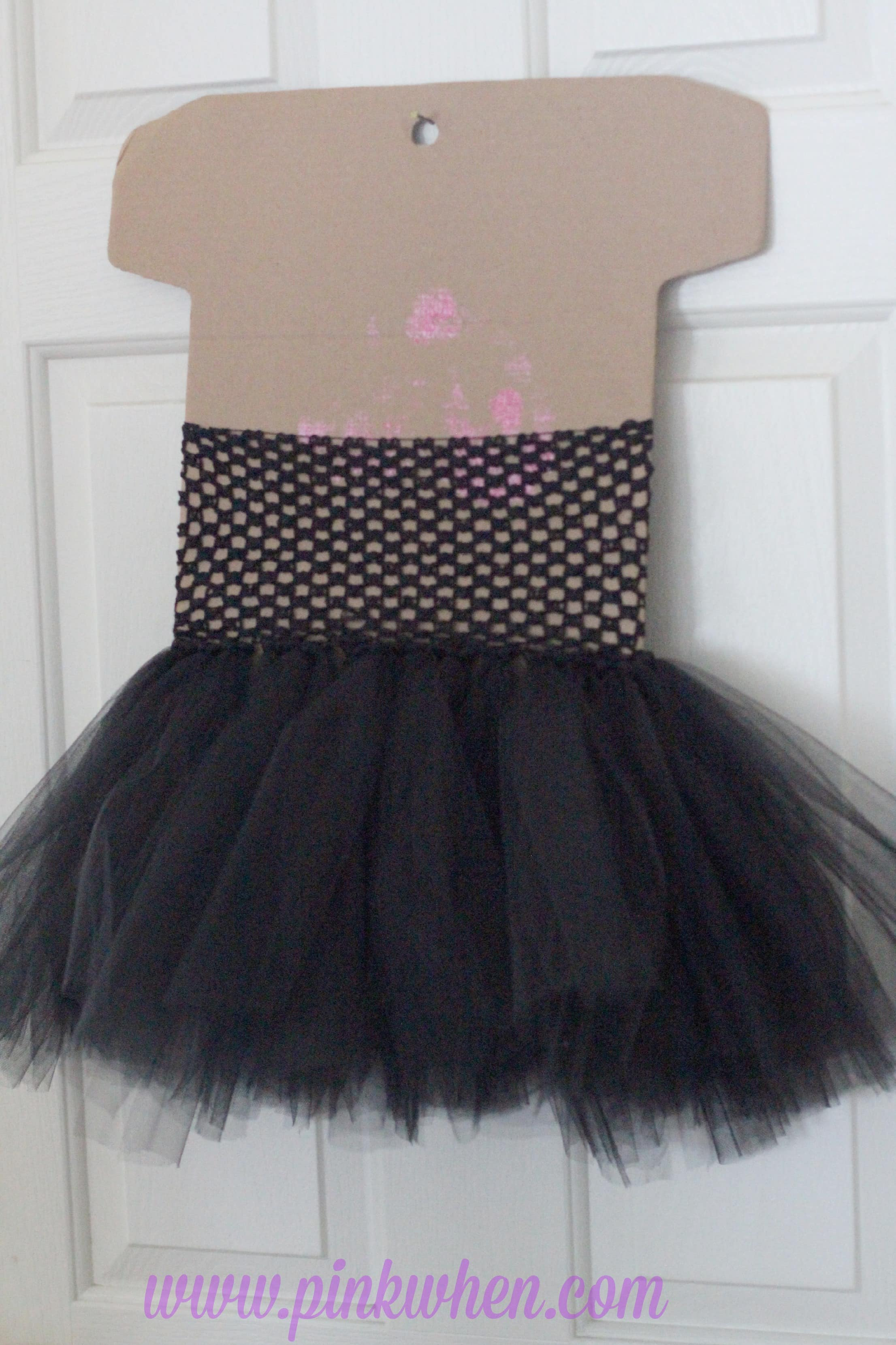 DIY No Sew Maleficent Costume Tulle Skirt