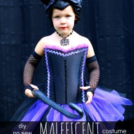 DIY No Sew Maleficent Costume