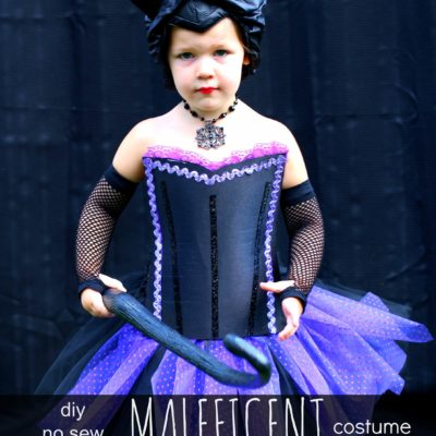 DIY No Sew Maleficent Costume