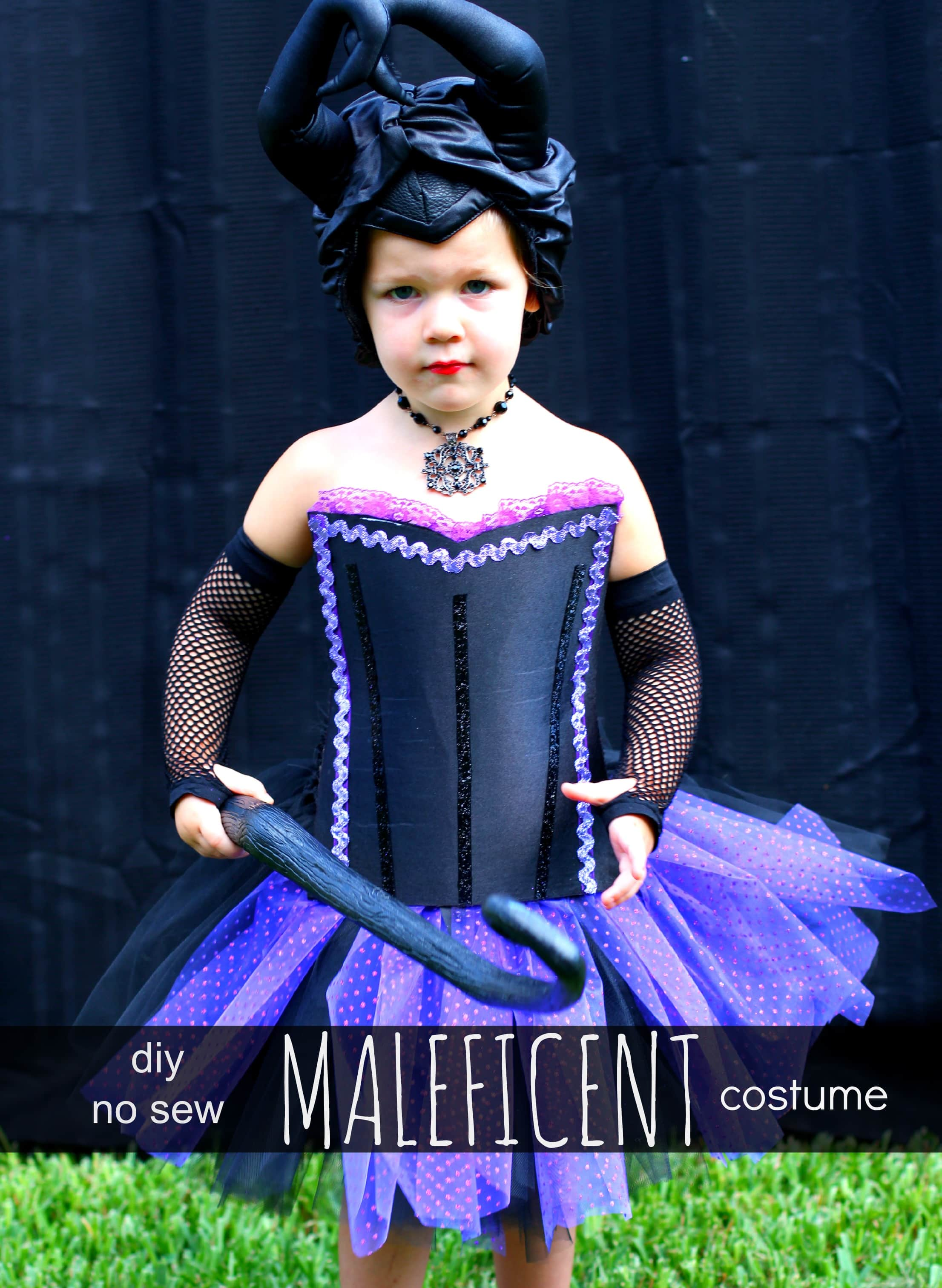 Diy No Sew Maleficent Costume Pinkwhen