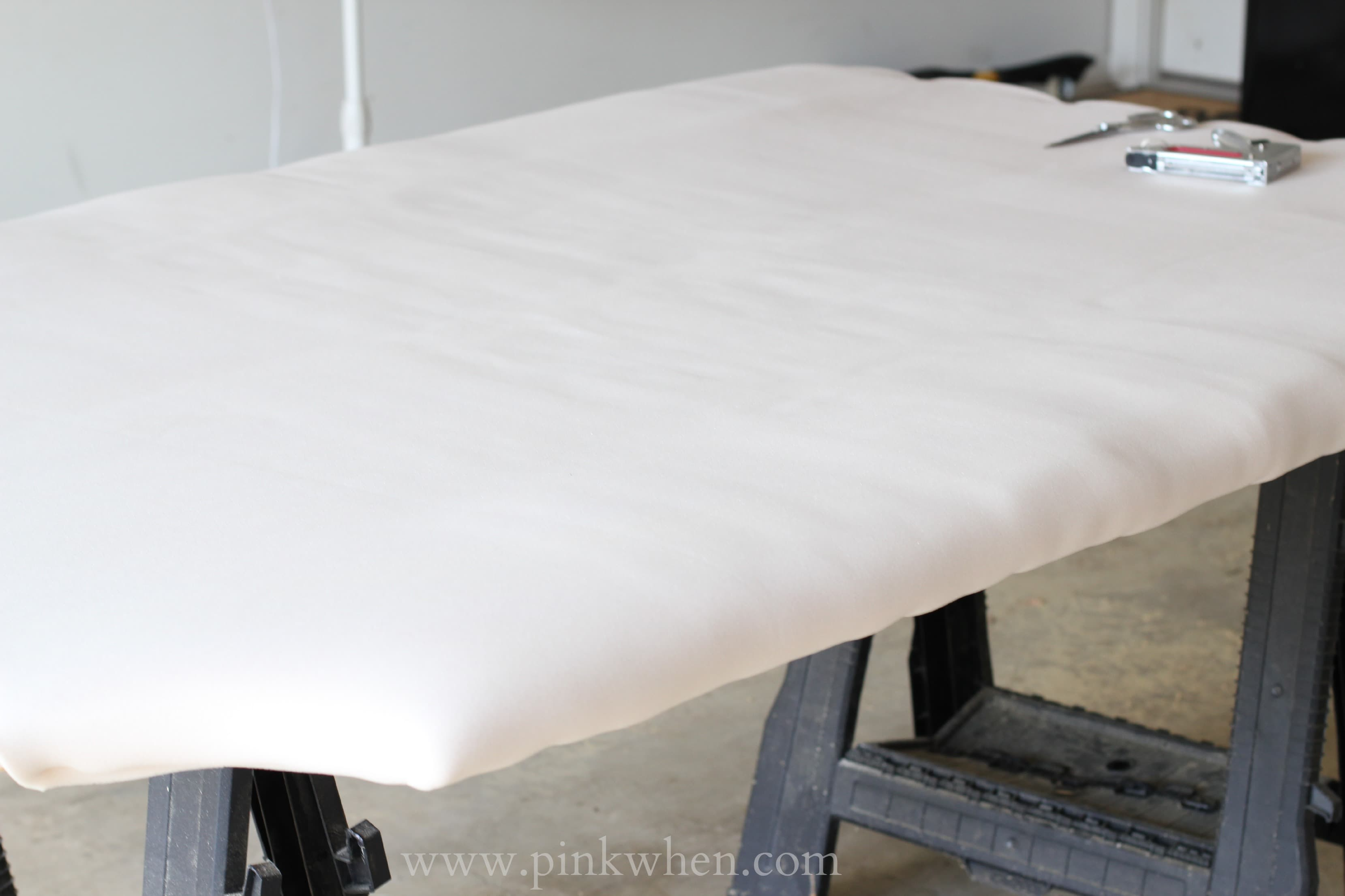 DIY Tufted Headboard for under 0 via PinkWhen.com 8