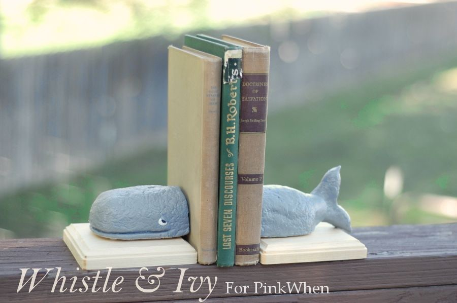DIY Whale Bookends (Anthropology KnockOff)