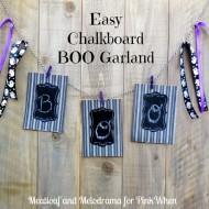 DIY Chalkboard Boo Garland