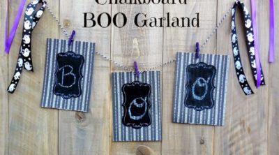 Easy DIY Chalkboard Boo Garland Tutorial