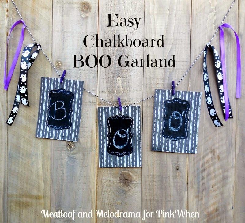 Easy DIY Chalkboard Boo Garland Tutorial