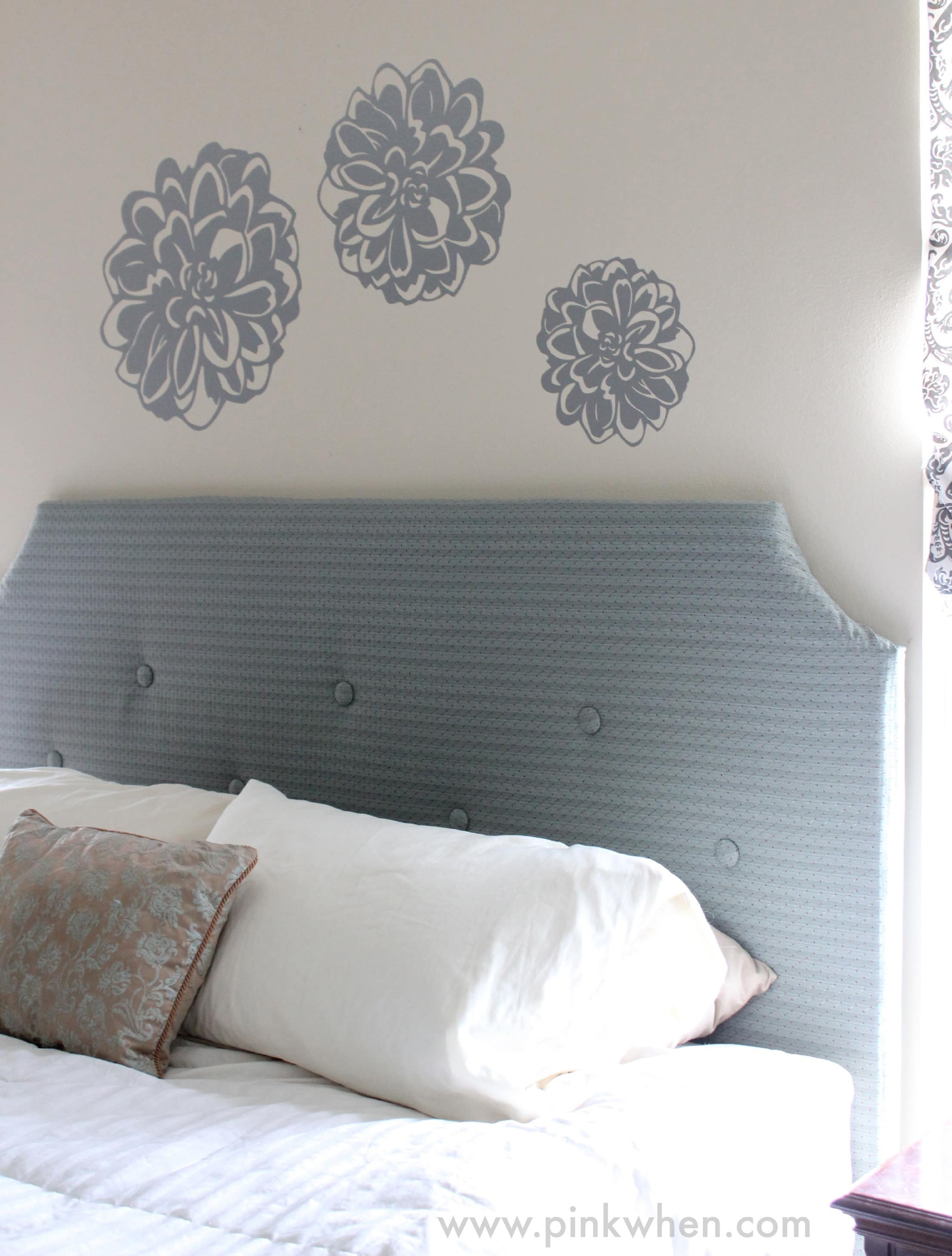 Easy & Inexpensive Wall Decor via PinkWhen.com