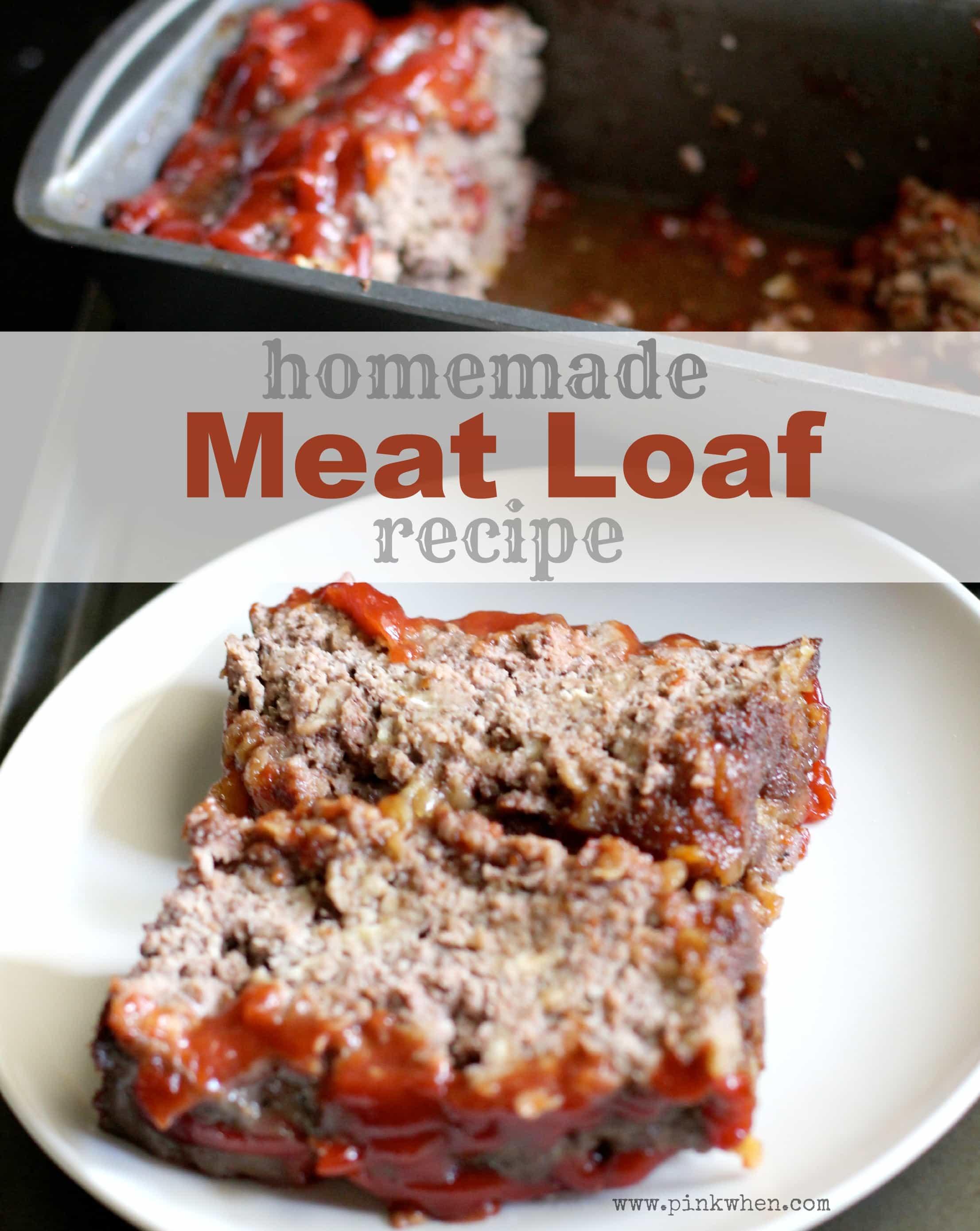Homemade Brown Sugar Meatloaf Recipe via PinkWhen.com