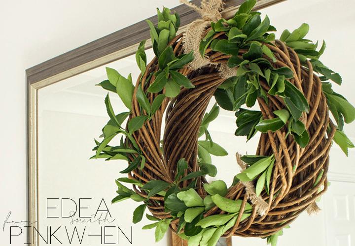 DIY Green Leafy Wreath