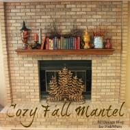 Easy Fall Mantel