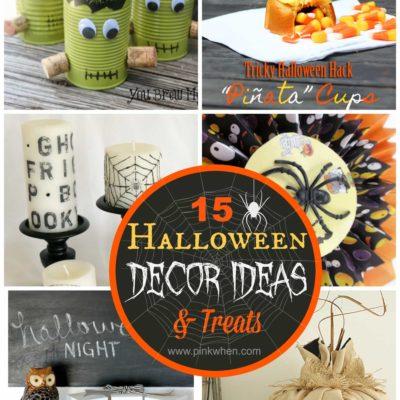 15 Halloween Decor Ideas and Treats!
