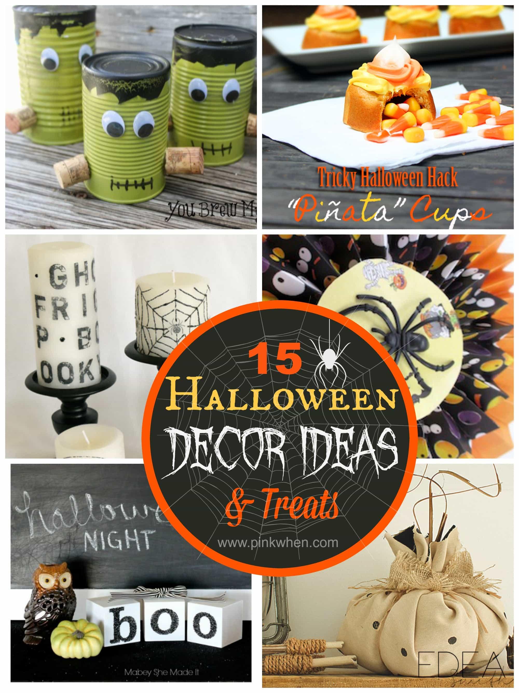 15 Halloween Decor Ideas and Halloween Treats via PinkWhen.com