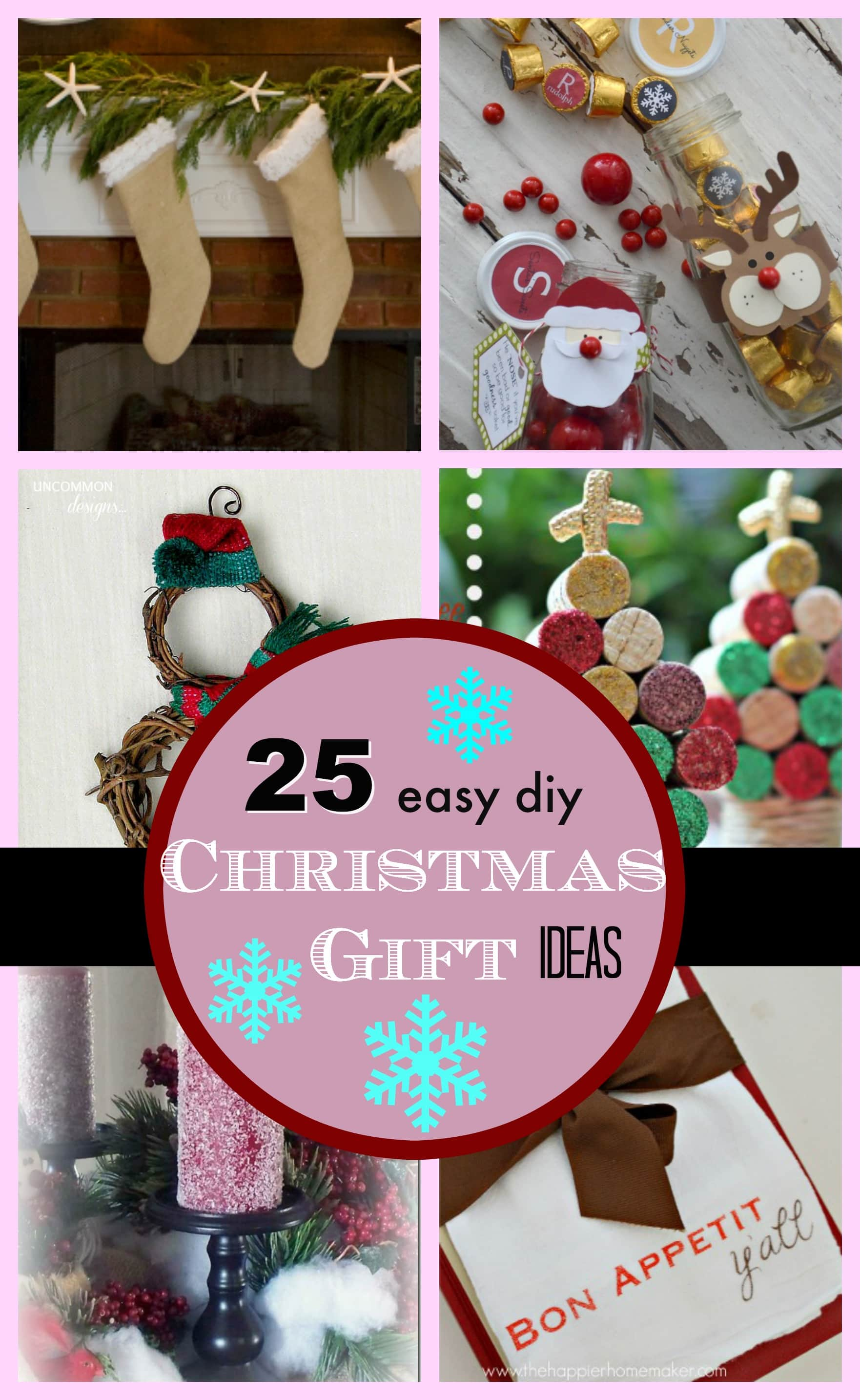 25 diy easy christmas gift ideas pinkwhen for Easy presents to make for friends