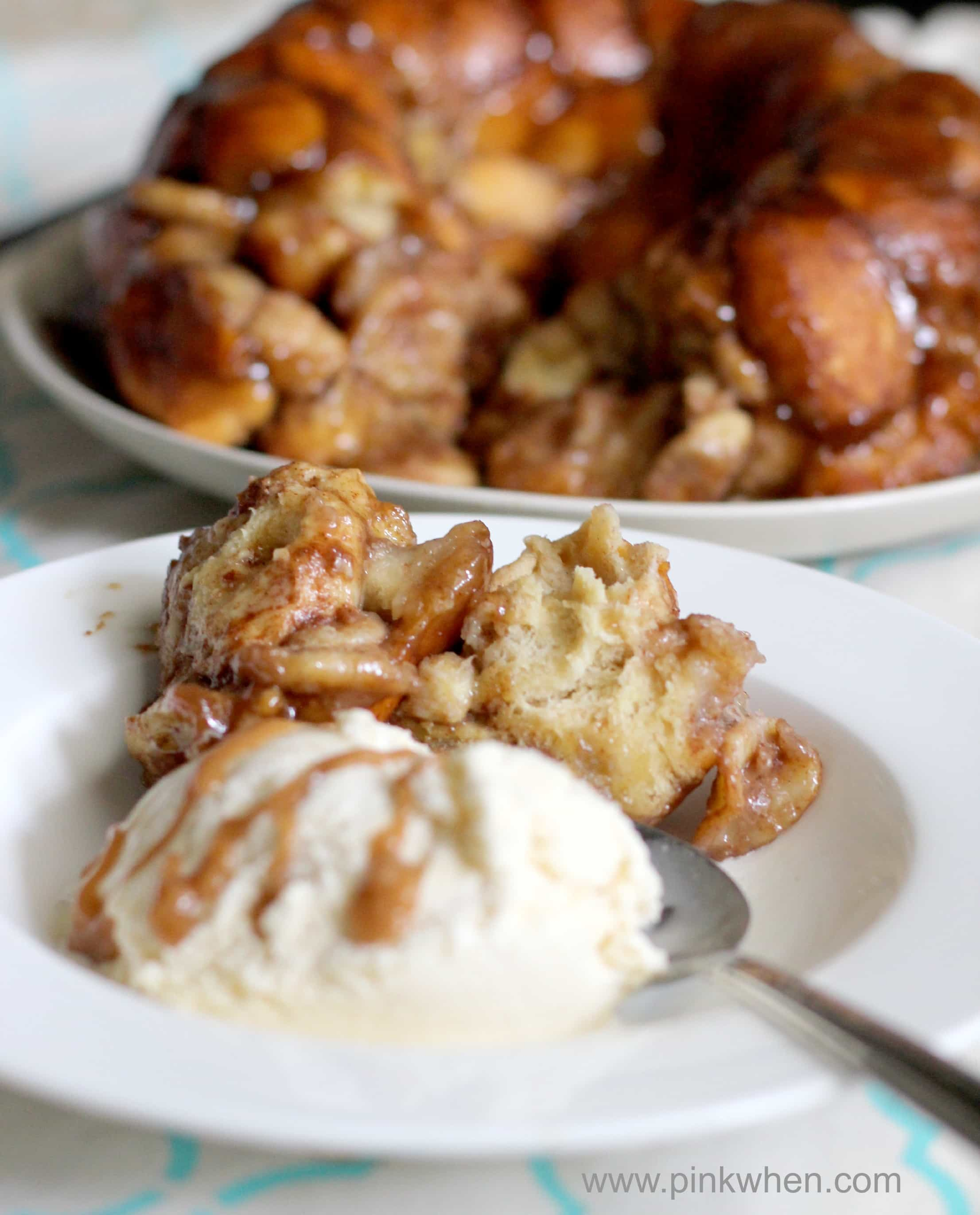 How To Make Banana's Foster Pull Apart Monkey Bread