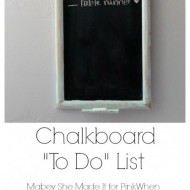 Chalkboard To Do List