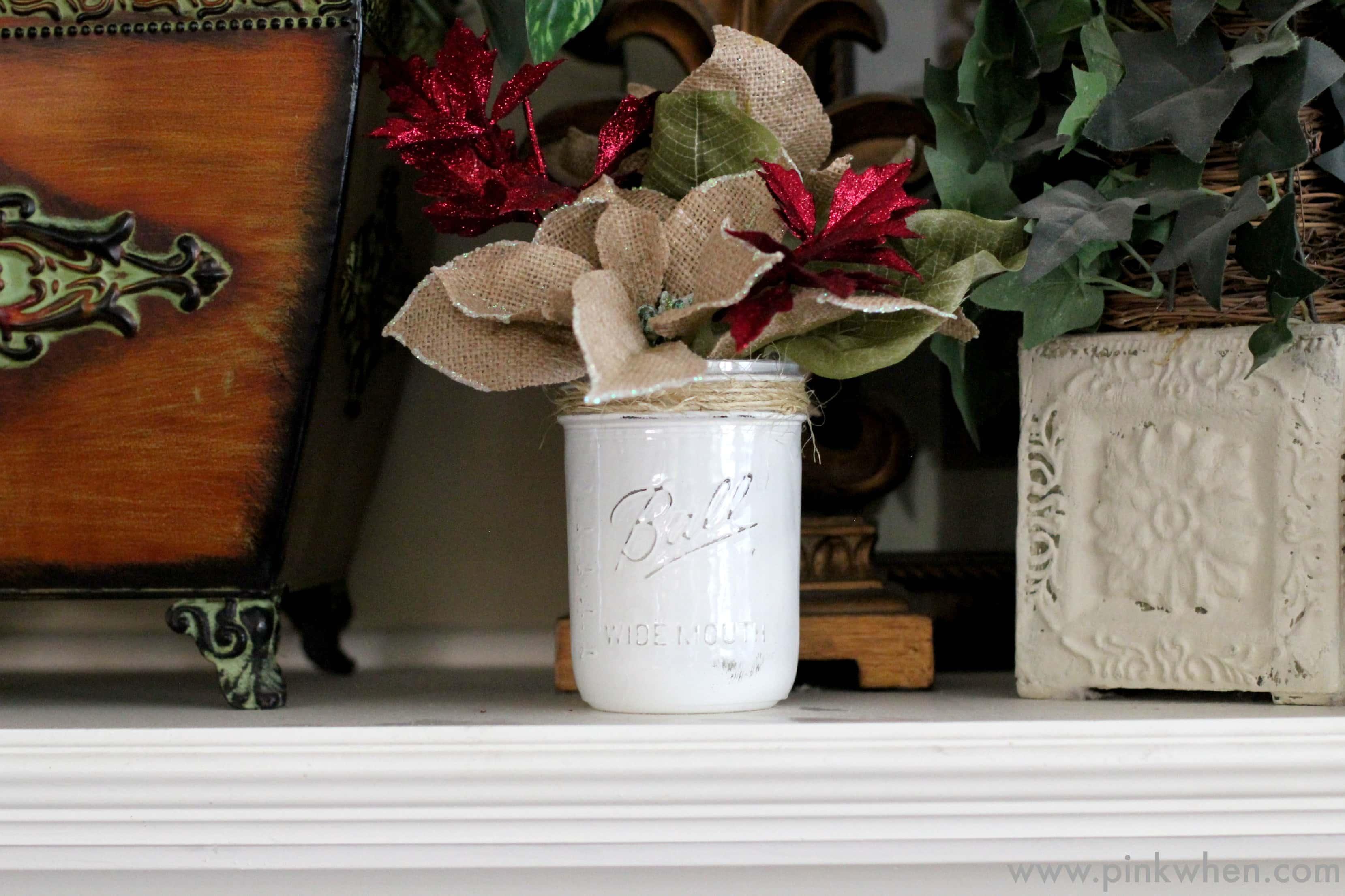DIY Rustic Christmas Gift Idea #MakeItFunCrafts via PinkWhen.com