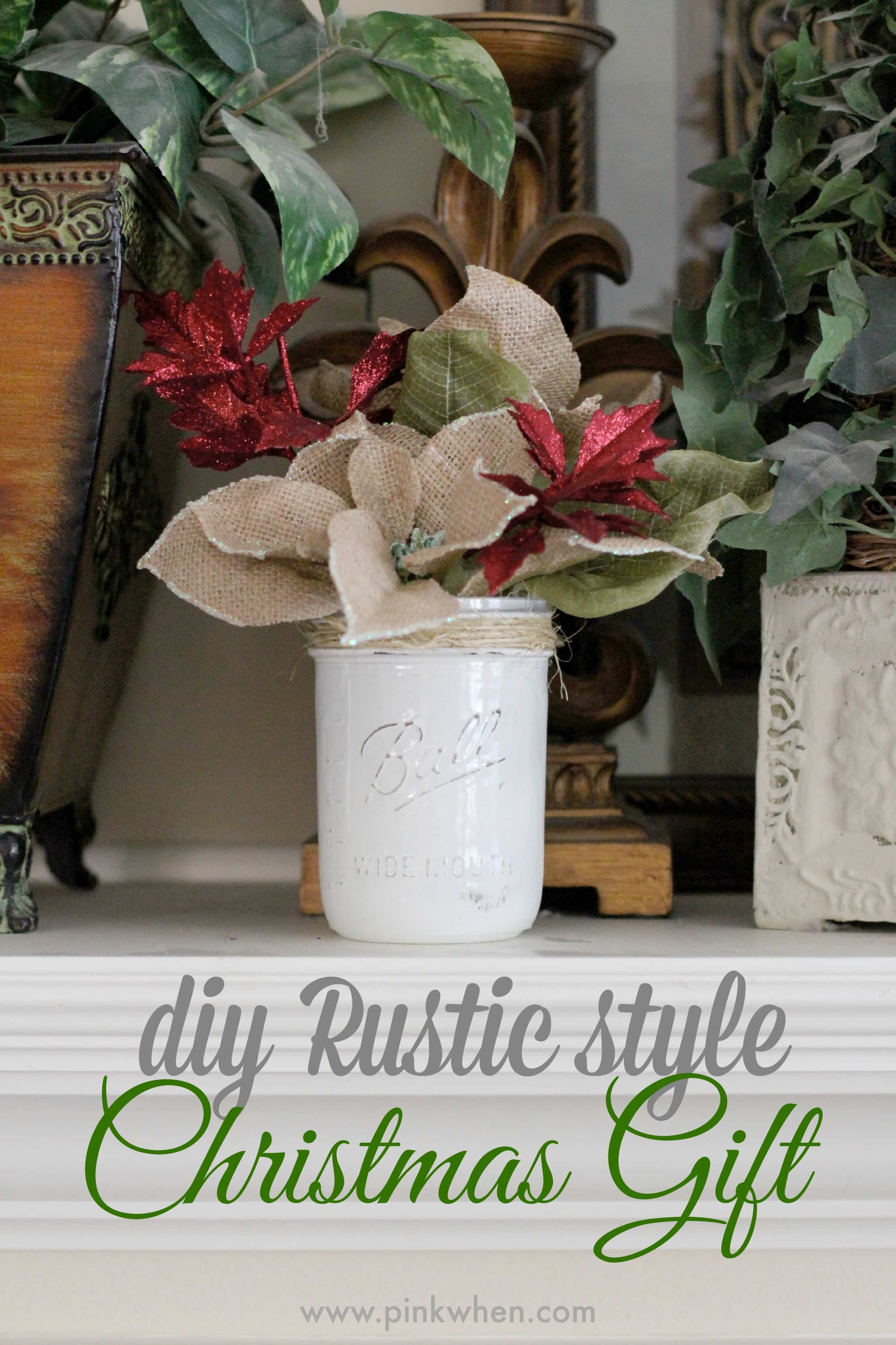 diy rustic christmas gift idea makeitfuncrafts via pinkwhen com