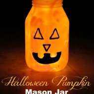 Pumpkin Mason Jar Luminary