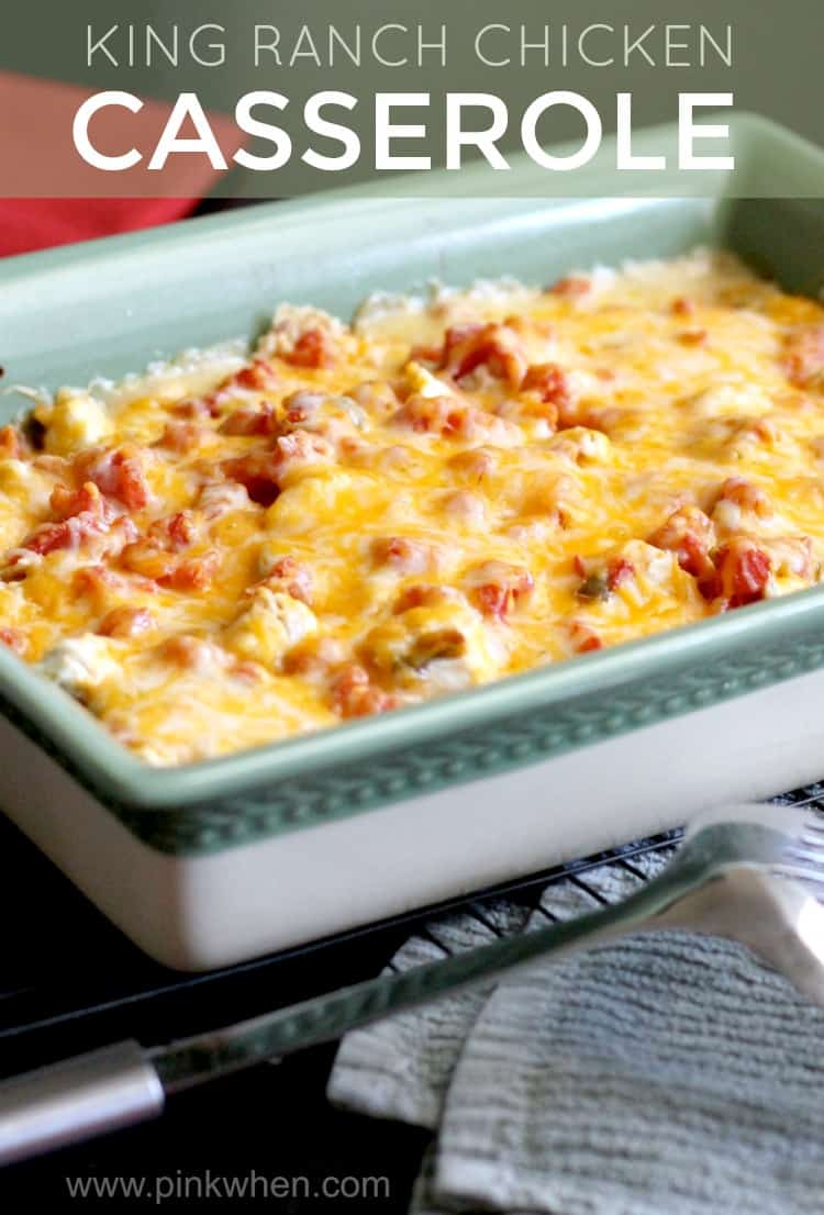 This easy and delicious King Ranch Chicken Casserole is a family favorite and is bursting with flavors! It will soon be a family favorite!