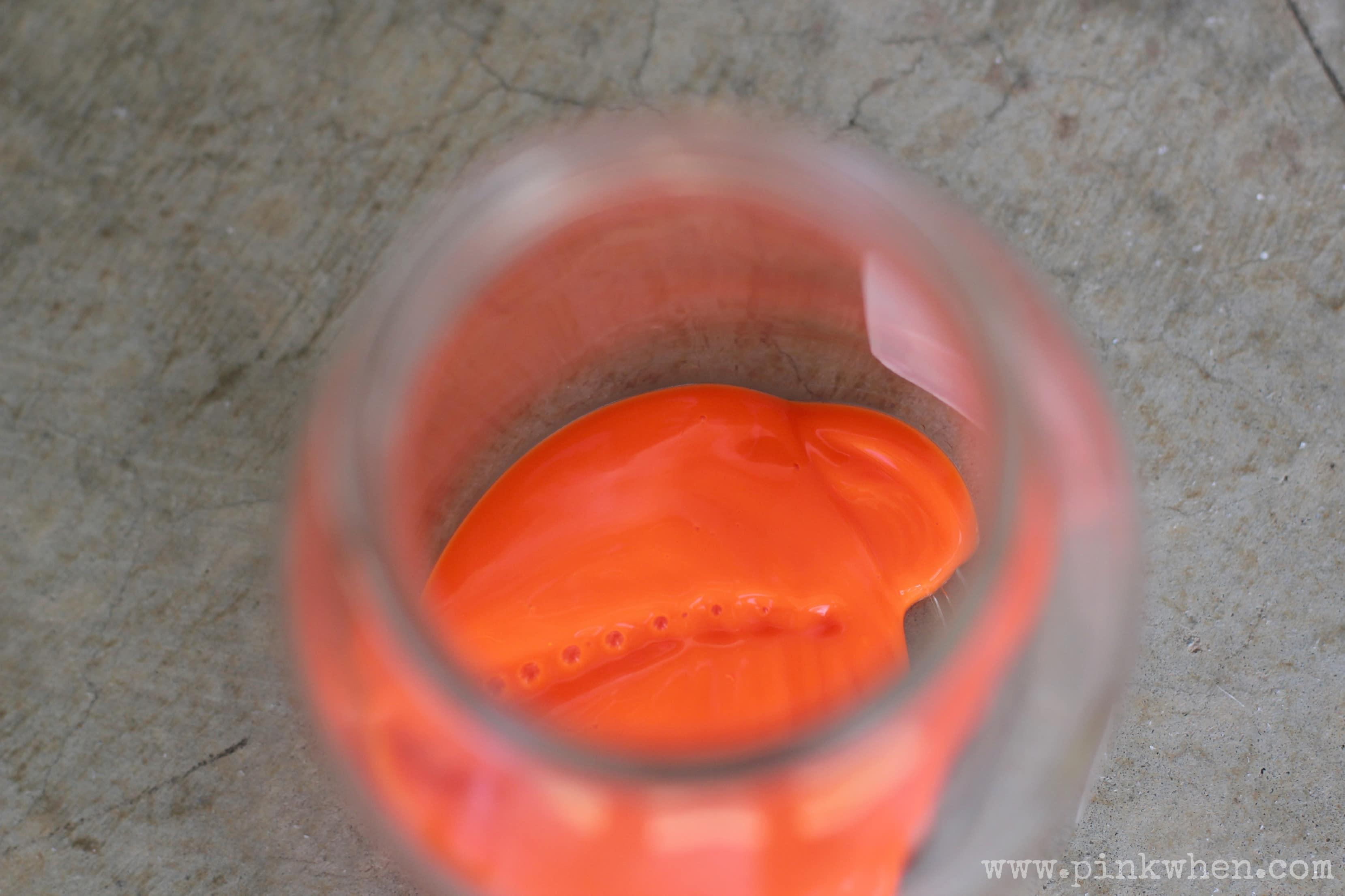 Pumpkin Mason jar Luminary Painting the Jar