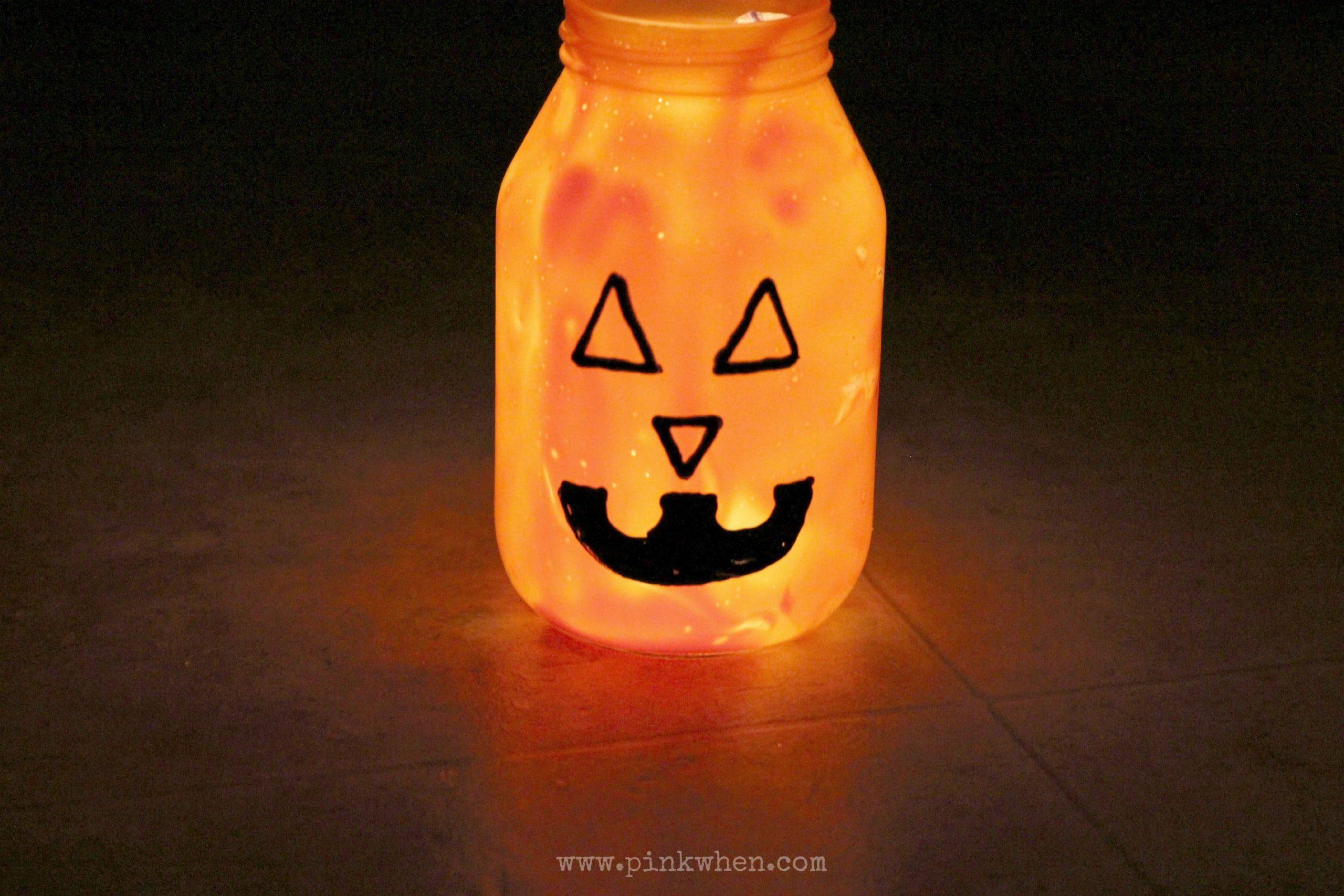 Pumpkin Mason Jar Luminary 1