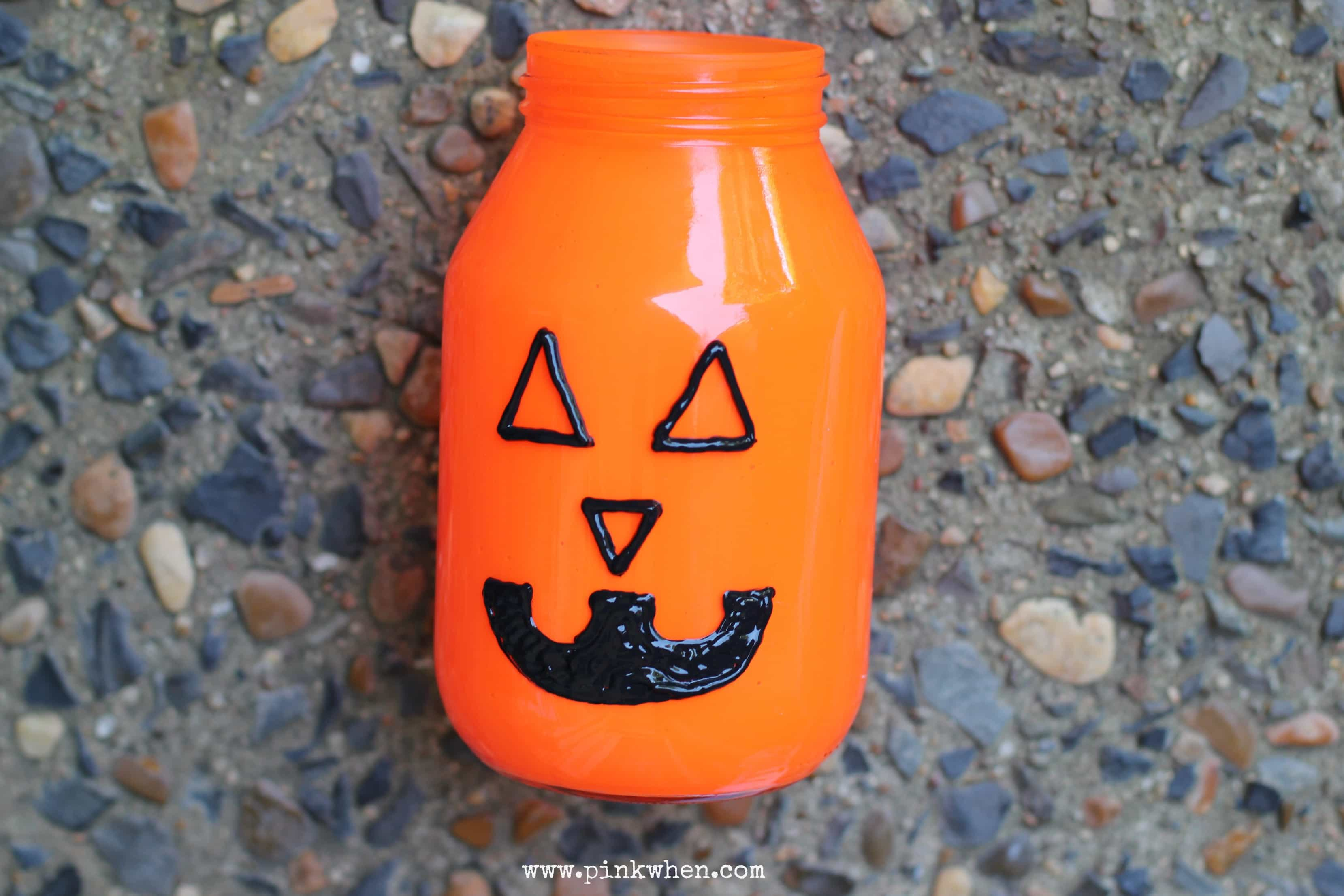 Pumpkin Mason Jar Luminary Painted 2