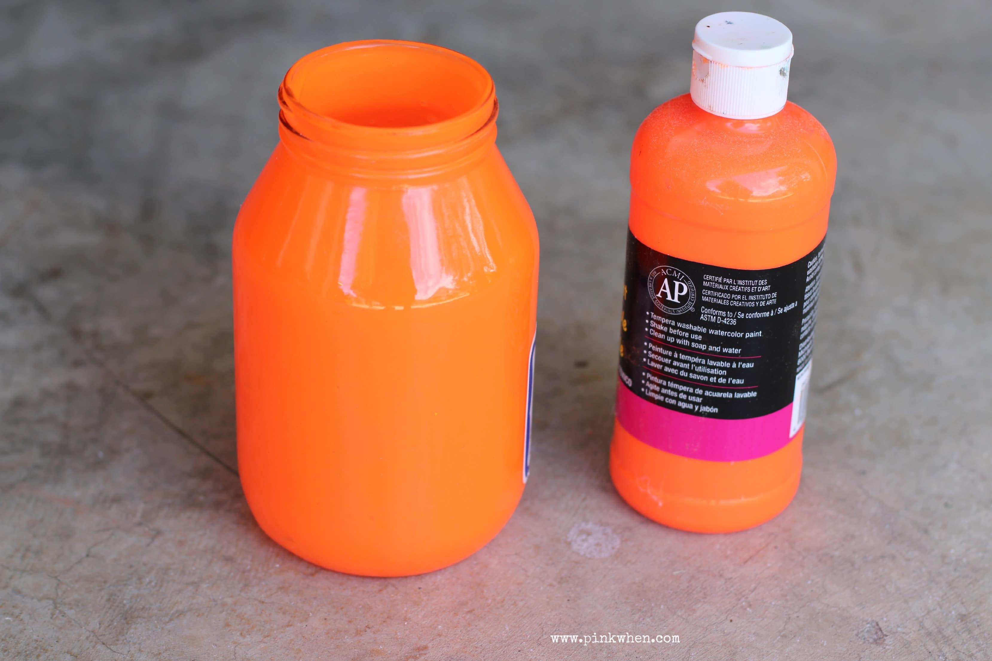 Pumpkin Mason Jar Luminary Painted