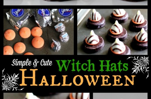 Simply Cute Candy Halloween Witch Hats via PinkWhen.com