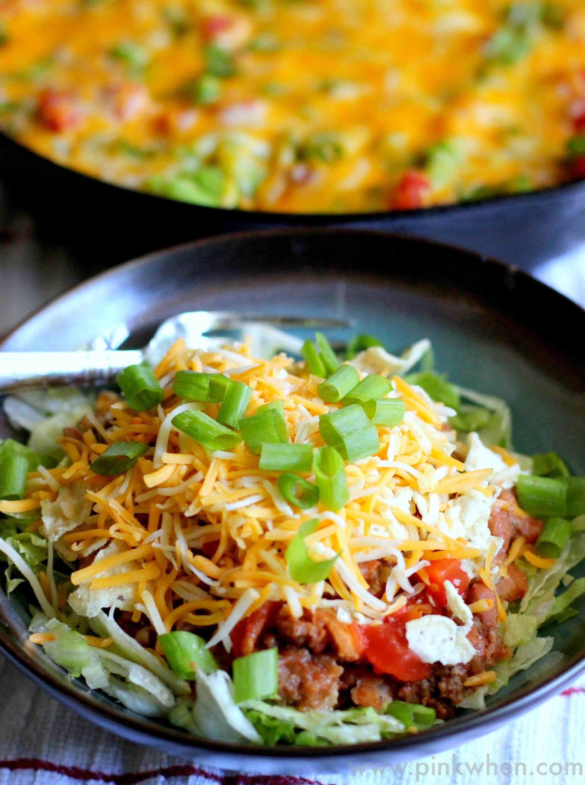 Skillet Beef and Bean Taco Casserole Recipe