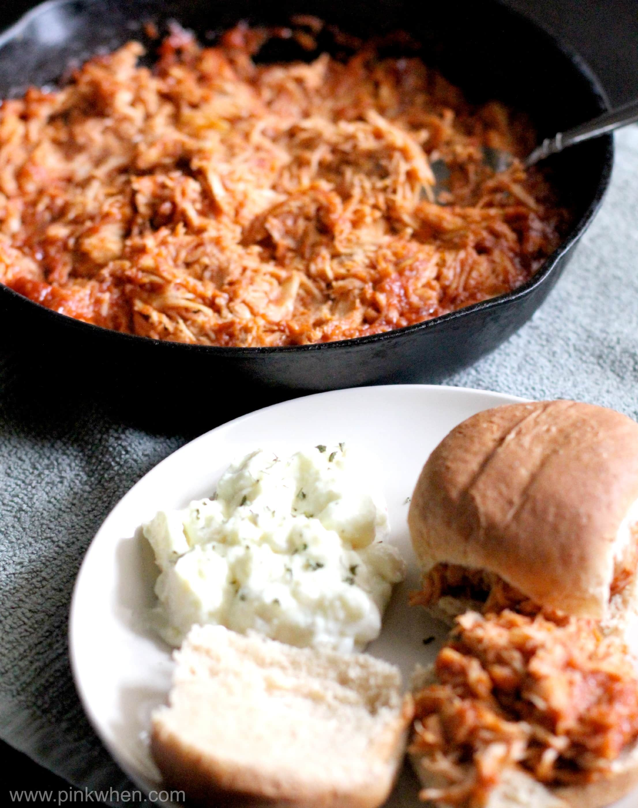 Put these Slow Cooker BBQ Shredded Chicken Sliders on the shopping ...