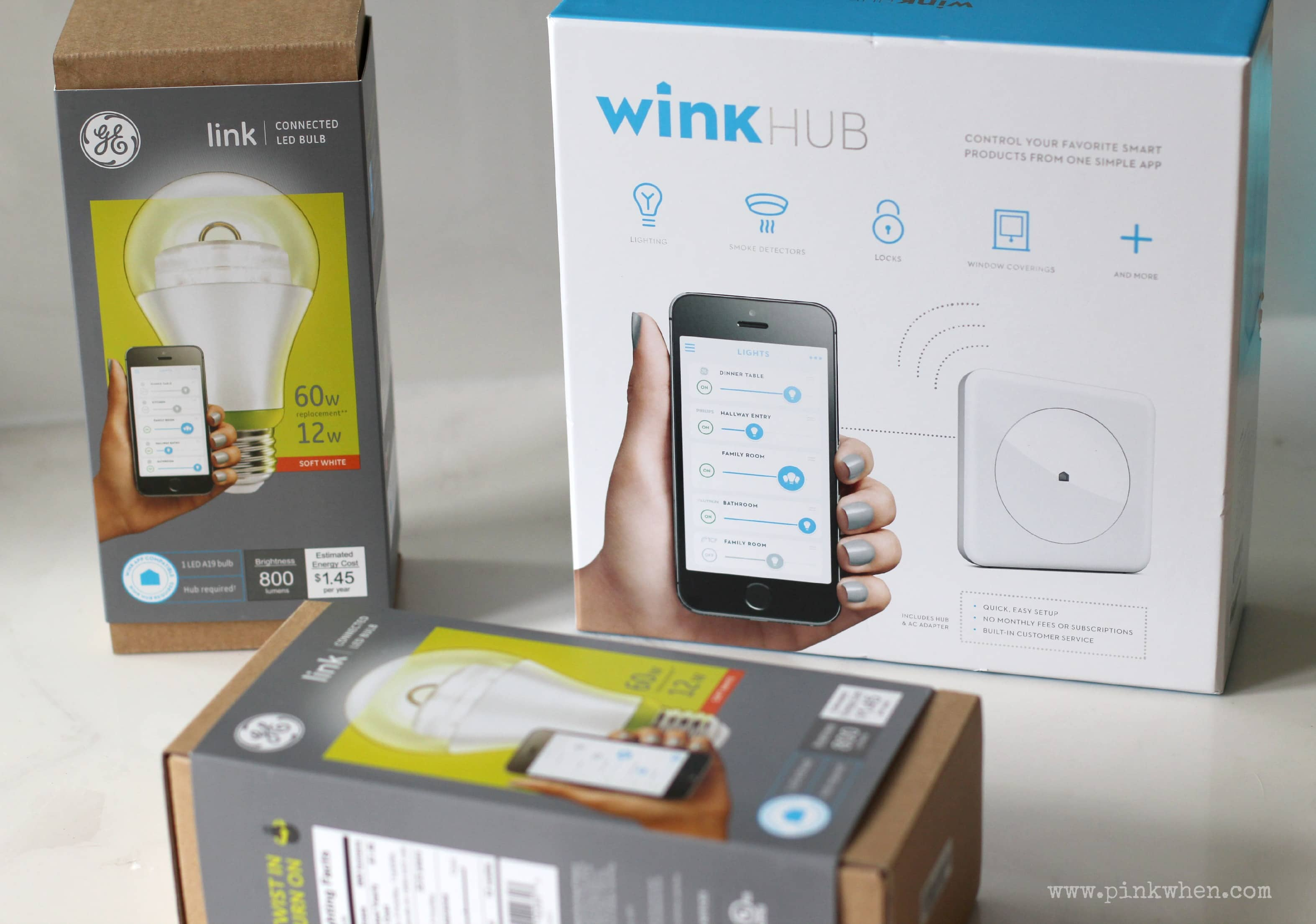 Smart Lighting with GE Link LED bulbs and Wink hub #cbias #GELink #shop & DIY Smart Lighting (or Lights Out) from anywhere! - PinkWhen azcodes.com