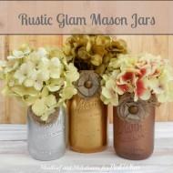 Rustic Glam Mason Jars