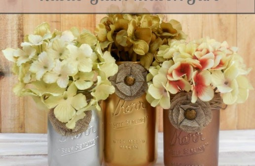 Rustic Glam Mason Jar Craft