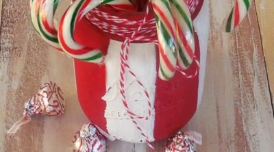 Candy Cane Mason Jar Craft