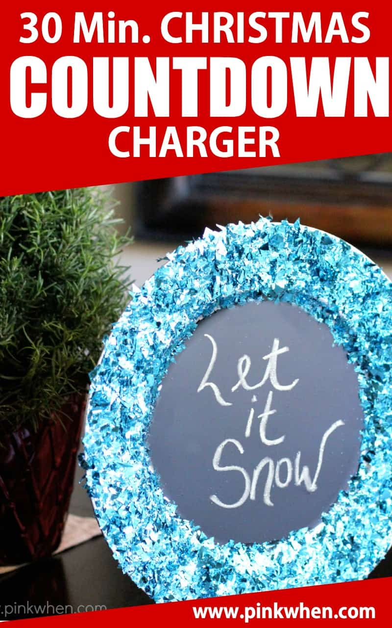A quick 30-minute Christmas Countdown Charger is the perfect DIY project for your family this Christmas. #Christmas #diy #calendar