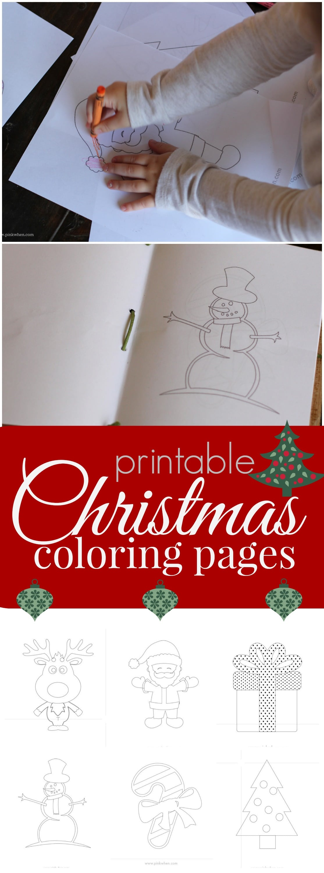 Printable Christmas Coloring Pages - PinkWhen