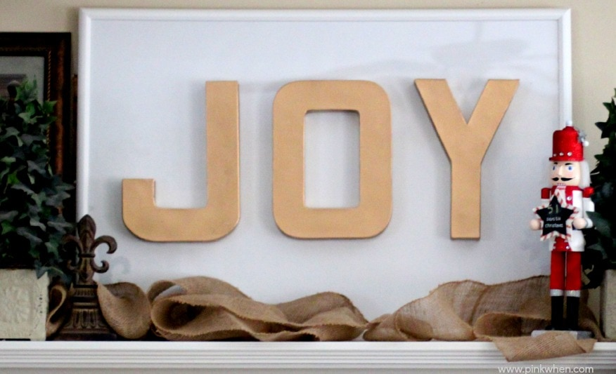 DIY JOY Christmas Sign