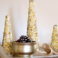 DIY Glitter and Gold Christmas Tree Decor