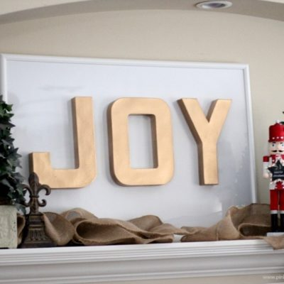 JOY Christmas Sign Tutorial