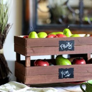 DIY Stackable Slatted Fruit Crates