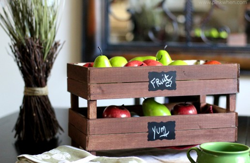 DIY Stackable Slatted Fruit Crates via PinkWhen.com