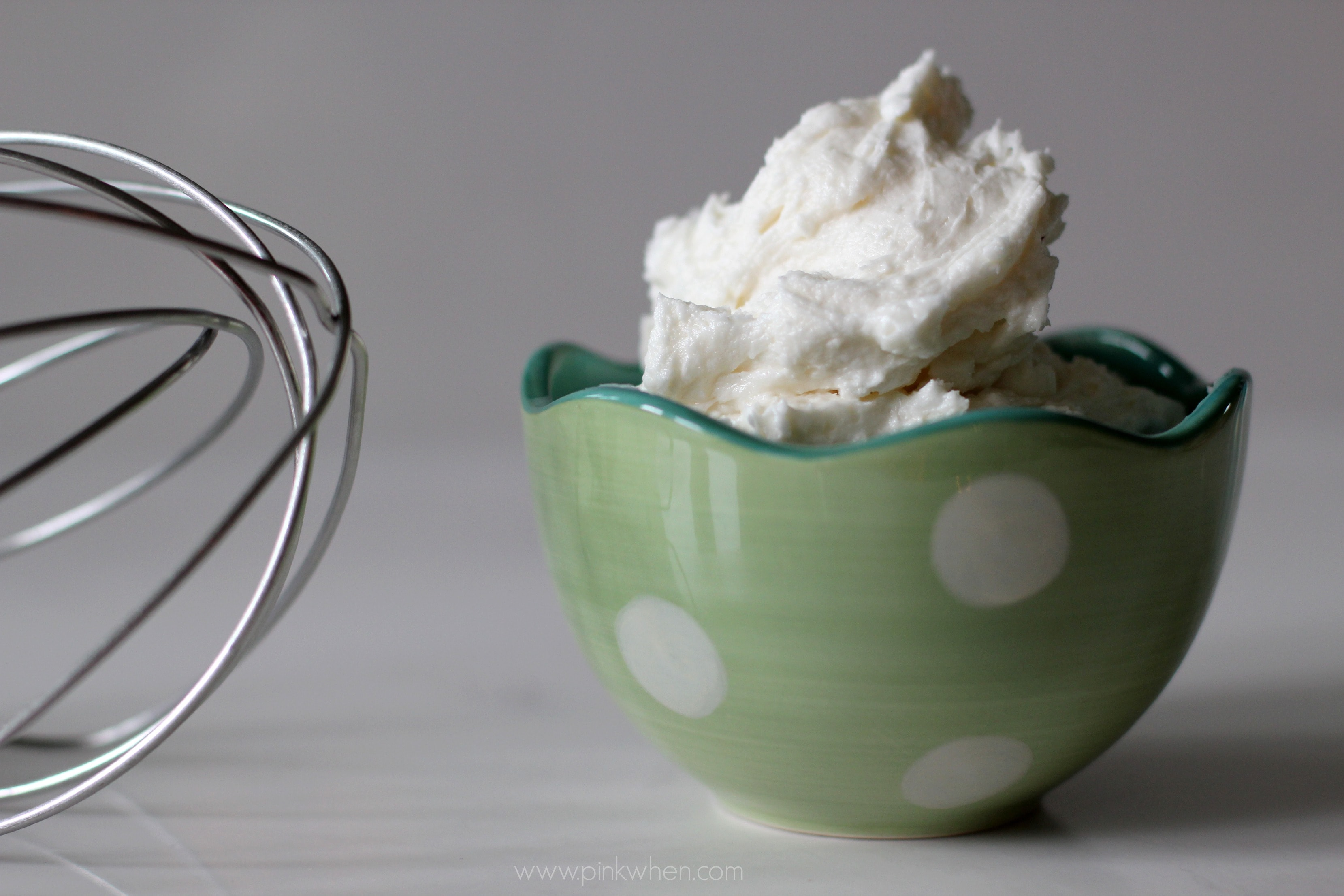 Delicious and Fluffy Vanilla Buttercream Frosting recipe via PinkWhen.com