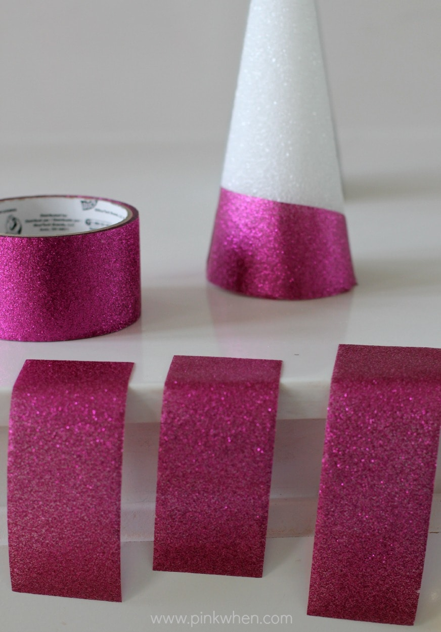 Glitter Duct Tape Christmas Tree Craft