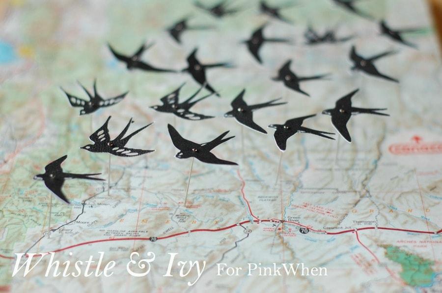 Map and Swallows Shadowbox Tutorial
