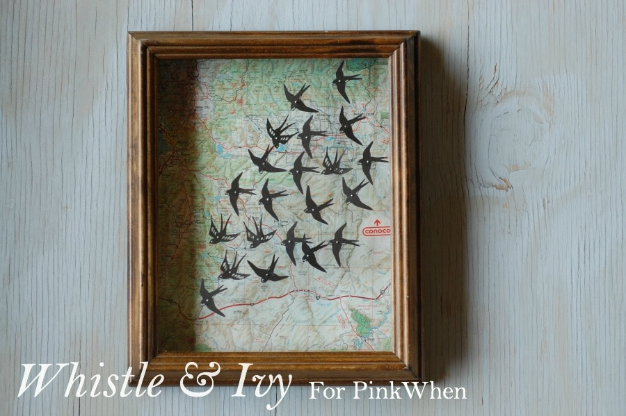 Map and Swallows Shadowbox Tutorial