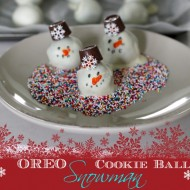 OREO Cookie Balls – Snowman Recipe