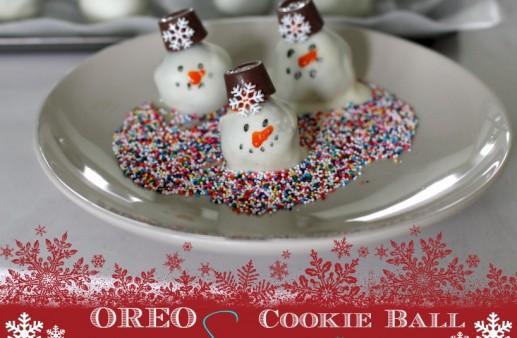 OREO Cookie Ball Snowman Recipe