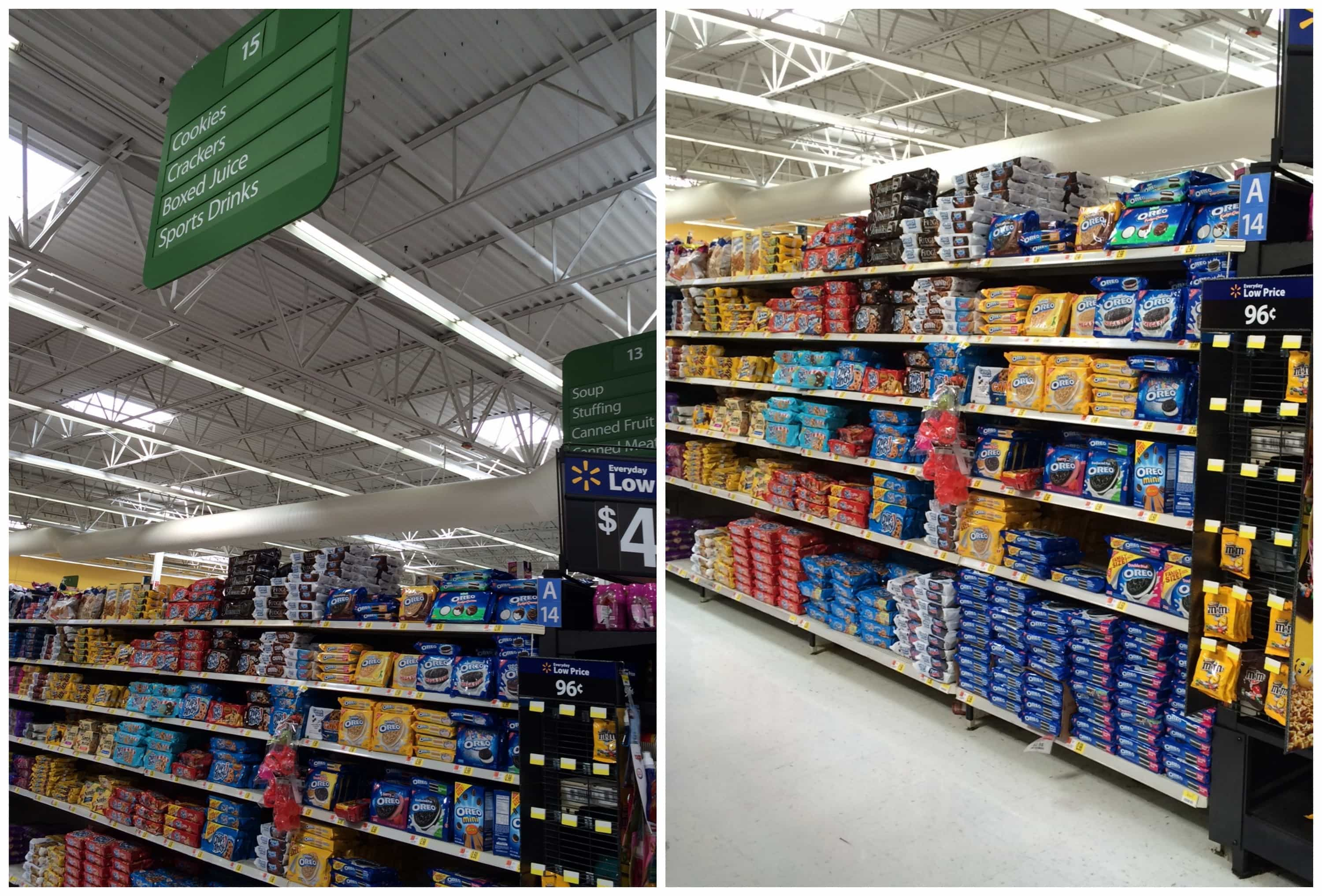 Store with cookie aisle