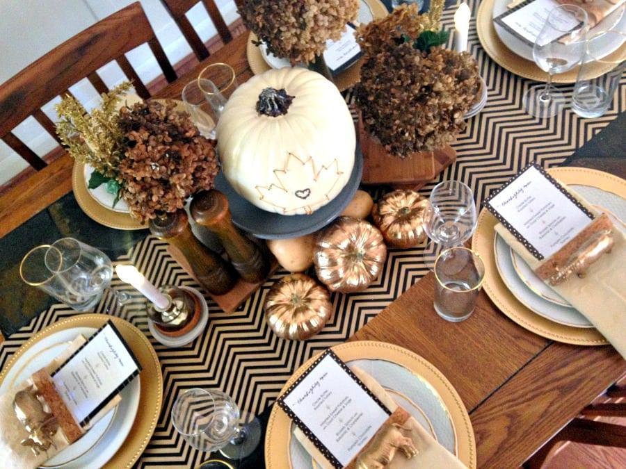 White-Black-Gold-Thanksgiving-Table