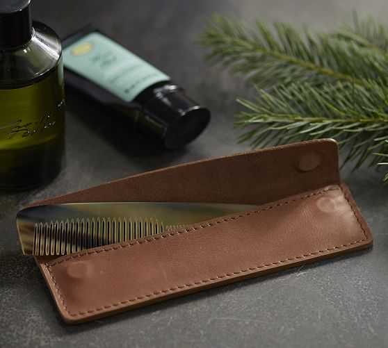 A leather comb set from Pottery Barn would be a perfect gift for a teenager in their stocking this year.