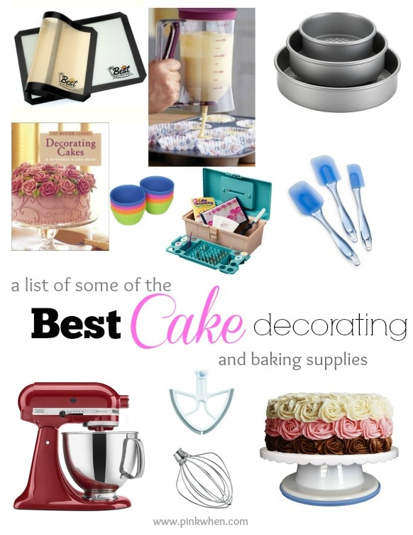 Cake Decorating Items List : Best Cake Decorating and Baking Supplies - PinkWhen